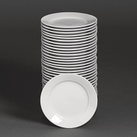 Special Offer - Athena Hotelware Wide Rimmed Plate 6 1/2 in Bulk Buy 36 Pack