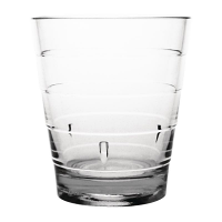 Kristallon Polycarbonate Ringed Tumbler Clear 285ml (Pack of 6)