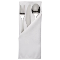 Traditions Polyester Napkins White Roslin