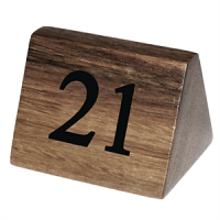 Wooden Table Number Signs Nos 21-30
