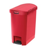 Rubbermaid Slim Step on Side Pedal Red 30Ltr