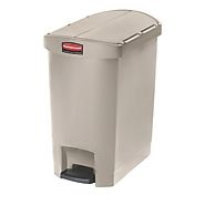 Rubbermaid Slim Step on Side Pedal BEIGE 30Ltr