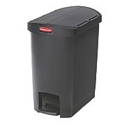 Rubbermaid Slim Step on Side Pedal BLACK 30Ltr