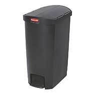 Rubbermaid Slim Step on Side Pedal BLACK 50Ltr