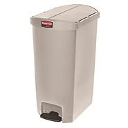 Rubbermaid Slim Step on Side Pedal Beige 70Ltr