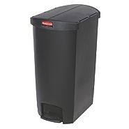 Rubbermaid Slim Step on Side Pedal Black 70Ltr