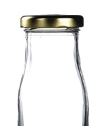 Gold Cap for Mini Milk Bottles (18PP)