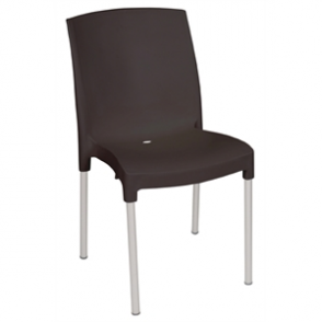 Bolero Stacking Bistro Side Chairs Black (4 Per Pack)