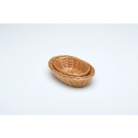 "Oval  Polywicker Basket 9""X6""X2.25"""