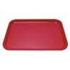 "Kristallon Foodservice Tray Red polypropylene. 350 x 450mm (13.8 x 17.7"")"