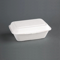 Compostable Hinged Container - 66x135x182mm (Pack 250)