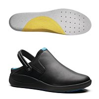 WearerTech Refresh Clog Black with Soft Insoles