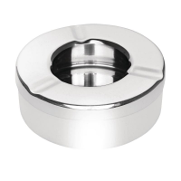 Olympia Stainless Steel Windproof Ashtray 90mm (6pc)