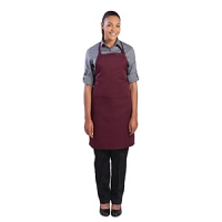 Colour by Chef Works Bib Apron Merlot