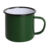 Olympia Enamel Mugs Green 350ml