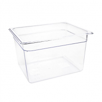 Vogue Polycarbonate 1/2 Gastronorm Container 200mm Clear