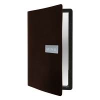 Raw Leather Menu A4 Brown