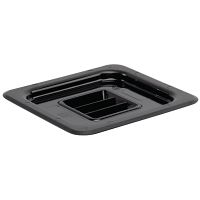 Vogue Polycarbonate 1/6 Gastronorm Lid Black