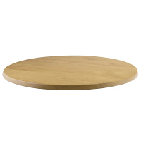 Werzalit Round 600mm Table Top (Oak Effect 342)