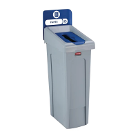 Rubbermaid Slim Jim Recycling Station Single Stream - Paper (Blue)