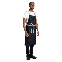 Southside Bib Apron Denim Black