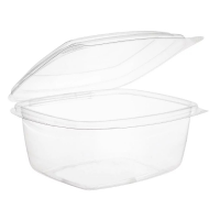 Compostable Container with Hinged Lid PLA - 500ml (Pack 300)