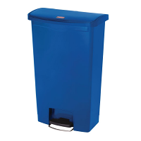 Rubbermaid Slim Jim Step on Bin Front Pedal 68Ltr Blue