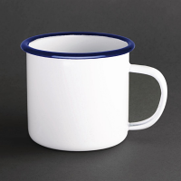 Olympia Large Enamel Soup Mug 670ml