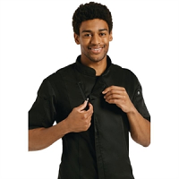 Chef Works Springfield Zipper Mens Chefs Jacket Black