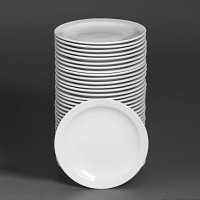 Special Offer - Athena Hotelware Narrow Rimmed Plates 8 in Bulk Buy 36 Pack
