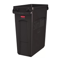 Rubbermaid SLIM JIM CONTAINER WITH VENTING CHANNELS 60L - BROWN