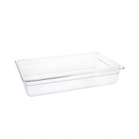 Vogue Polycarbonate 1/1 Gastronorm Container 100mm Clear