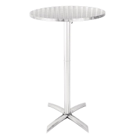 Bolero Flip Top Poseur Table Stainless Steel