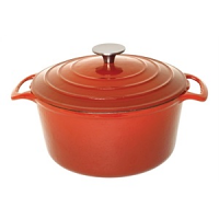 Vogue Orange Round Casserole Dish 3.2Ltr