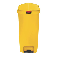 Rubbermaid Slim Step on Pedal Bin Yellow 68 Ltr