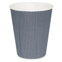 Fiesta Takeaway Coffee Cups Ripple Wall Charcoal 8oz (500pp)