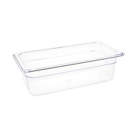 Vogue Polycarbonate 1/3 Gastronorm Container 100mm Clear