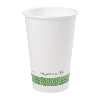Vegware  16oz white hot cup, case 1000