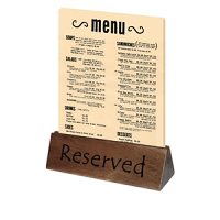Wooden Reserved Sign and Menu Holder (10PP)