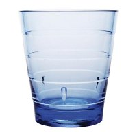 Kristallon Polycarbonate Ringed Tumbler Blue 285ml