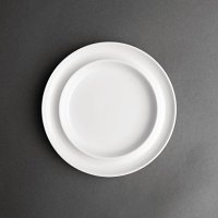 "Olympia Heritage White Raised Rim Plate - 8"" (Box 4)"