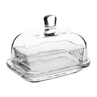 Olympia Butter Dish Glass