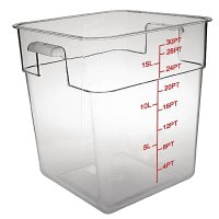 Polycarbonate Square Storage Container 15Ltr