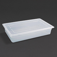 Vogue Polypropylene 1/1GN Pan with Lid 100mm