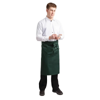 Whites Regular Bistro Apron Green - 1000x700mm 39.4x27.5""