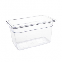 Vogue Polycarbonate 1/4 Gastronorm Container 150mm Clear
