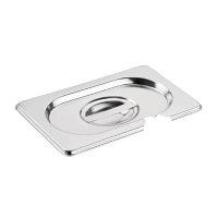 Vogue Stainless Steel 1/9 Gastronorm Notched Lid