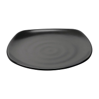 "Kristallon Fusion Rounded Square Plate 9.75"" (Box 6)"