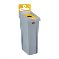 Rubbermaid Slim Jim Recycling Station Single Stream - Plastic (Yellow)
