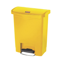 Rubbermaid Slim Jim Step on Bin Front Pedal 30Ltr Yellow